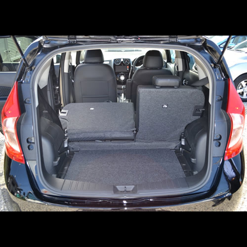 Nissan note luggage capacity